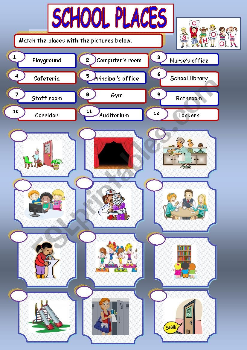 School places - ESL worksheet by chipougne2008