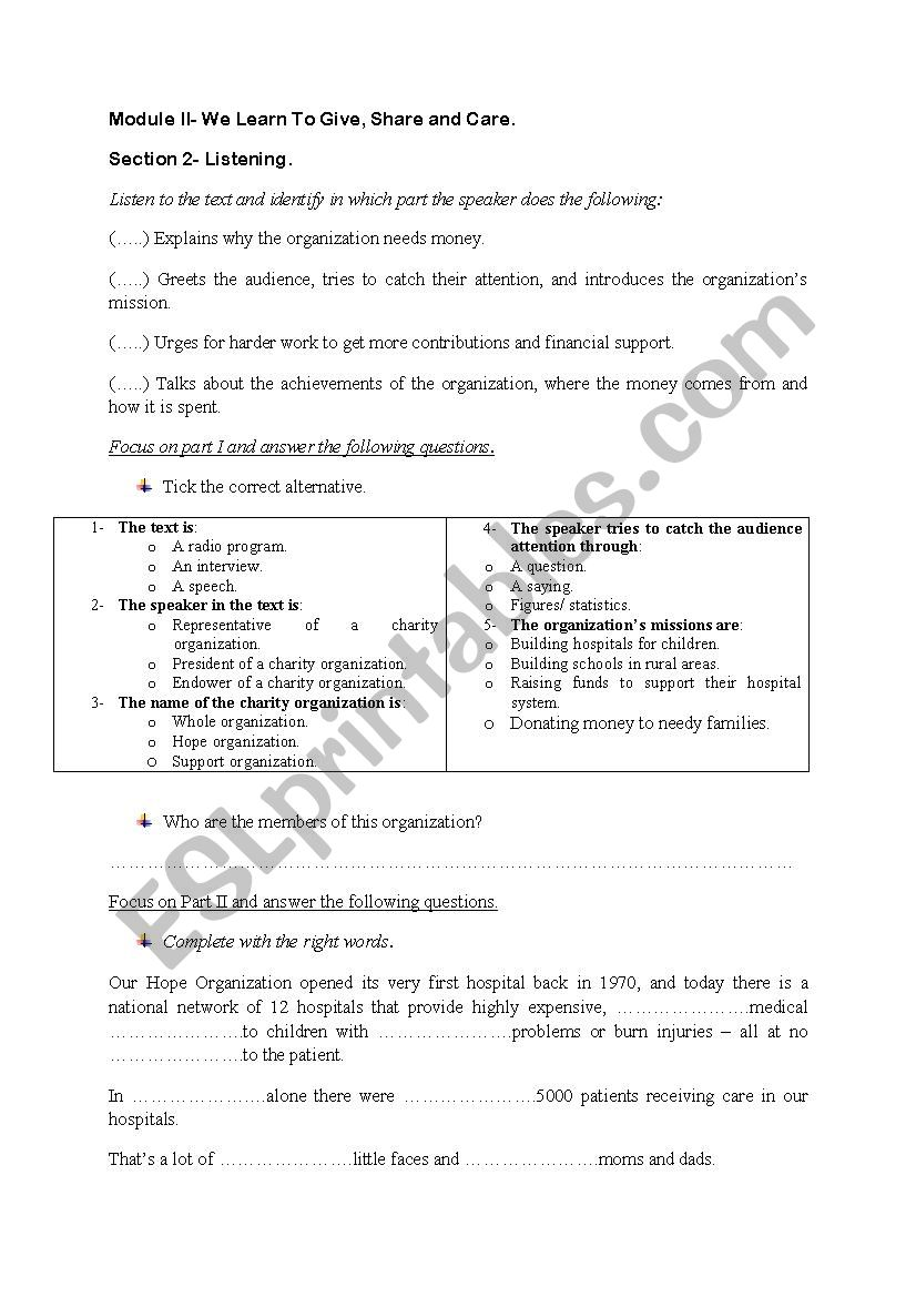 3rd grade module II section II