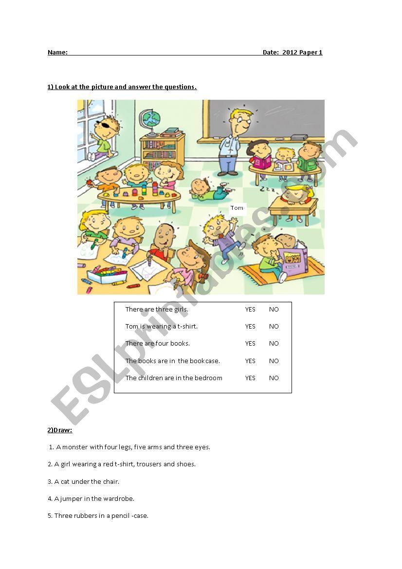 Happy Steet 1 Final Exam  worksheet