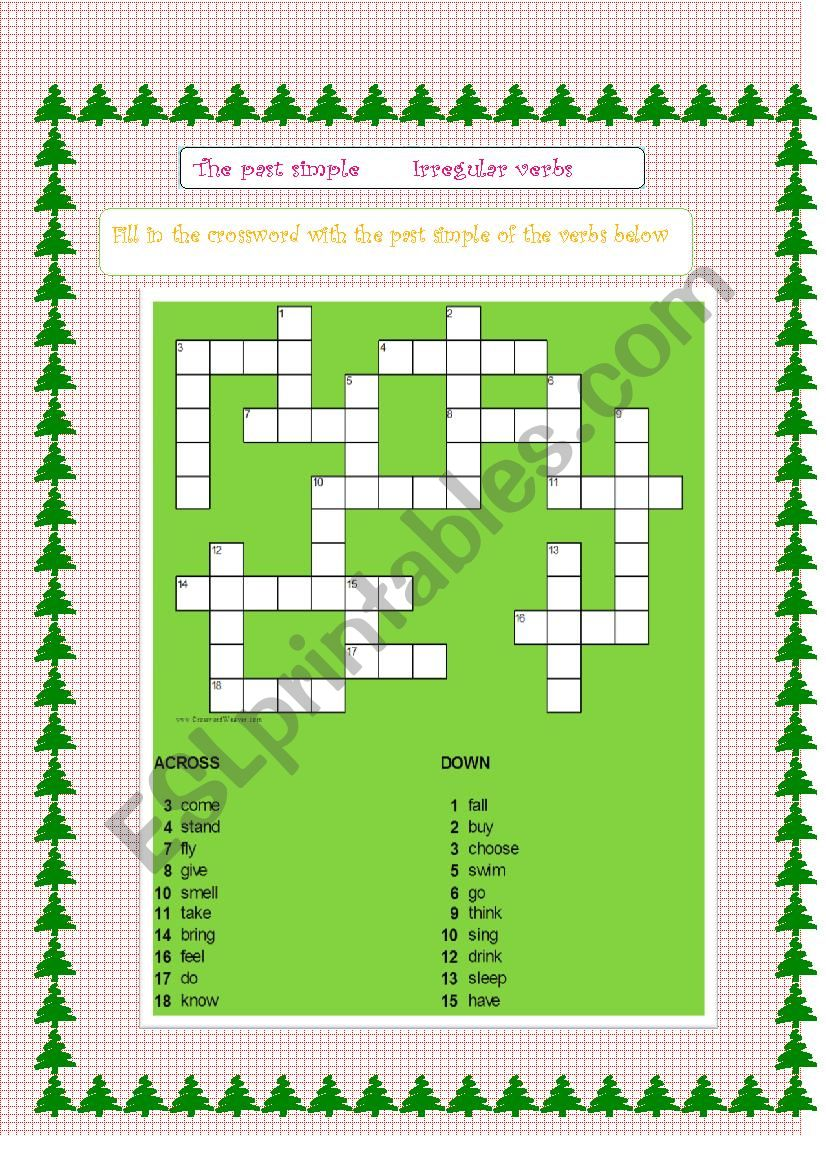 past simple: Irregular verbs Game