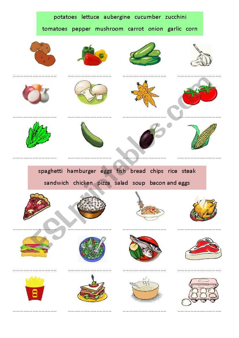 Food and drinks II worksheet