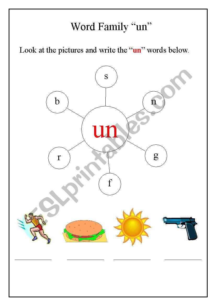 - Word Family - ESL Worksheet By Step2eternity