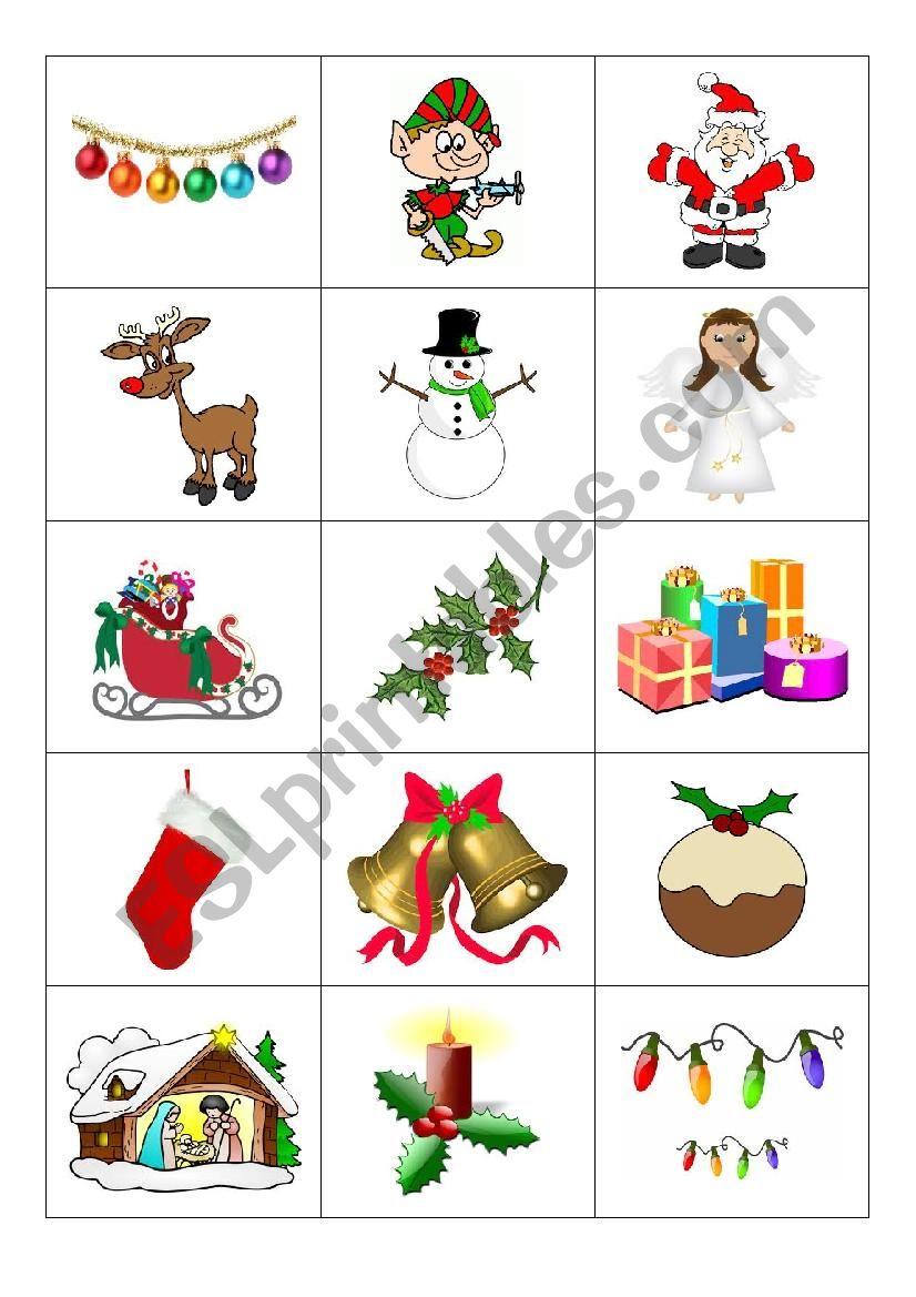 Christmas Flashcards worksheet