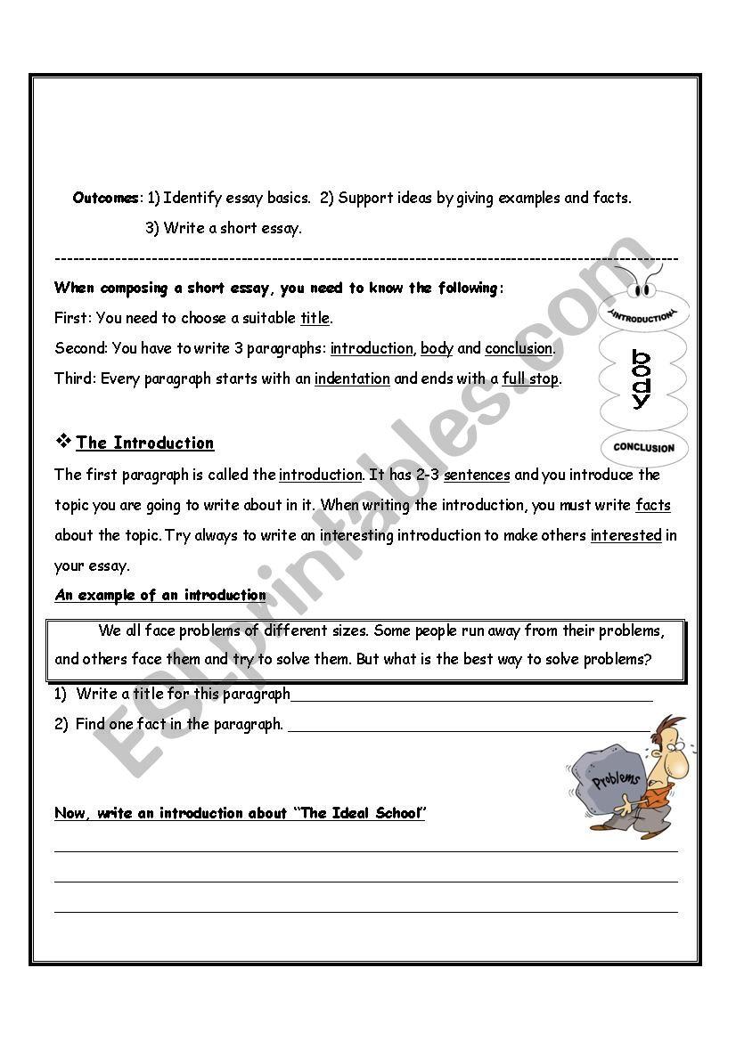 Writing a Short Essay (Teacher)