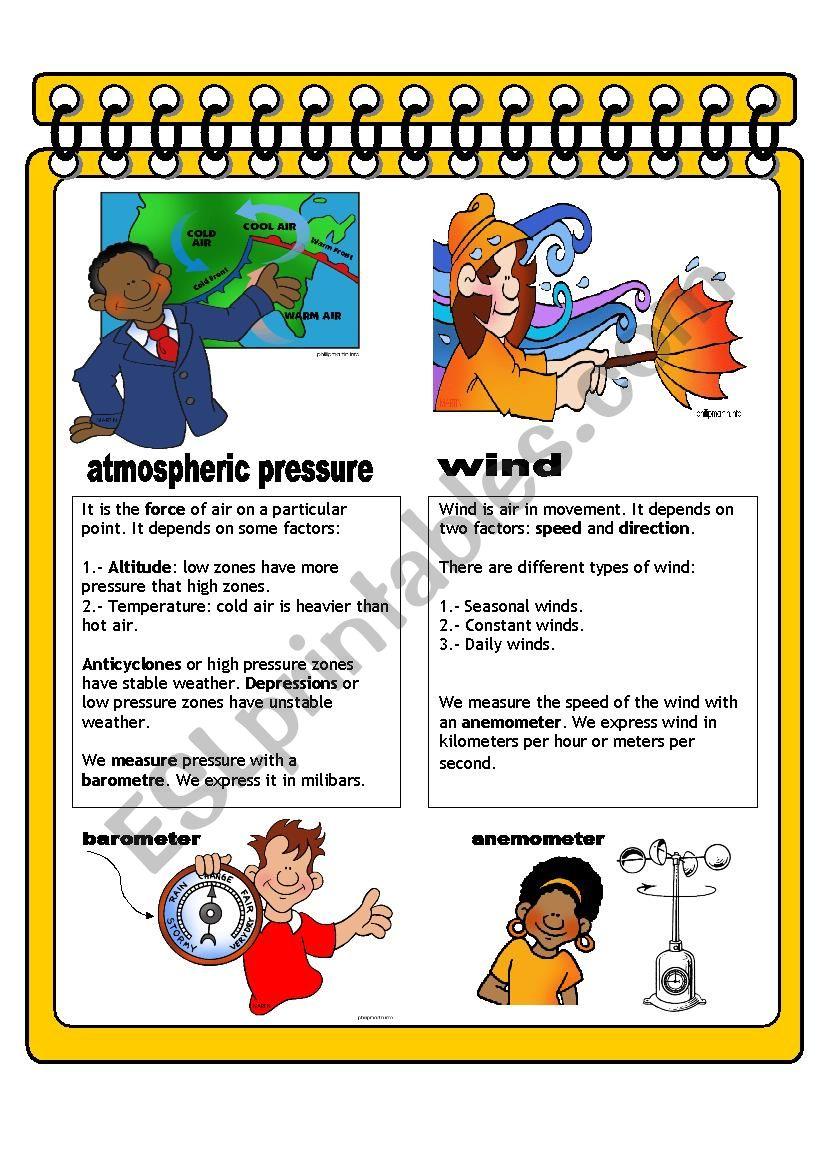 WEATHER AND CLIMATE III - ESL worksheet by JUANBEGI