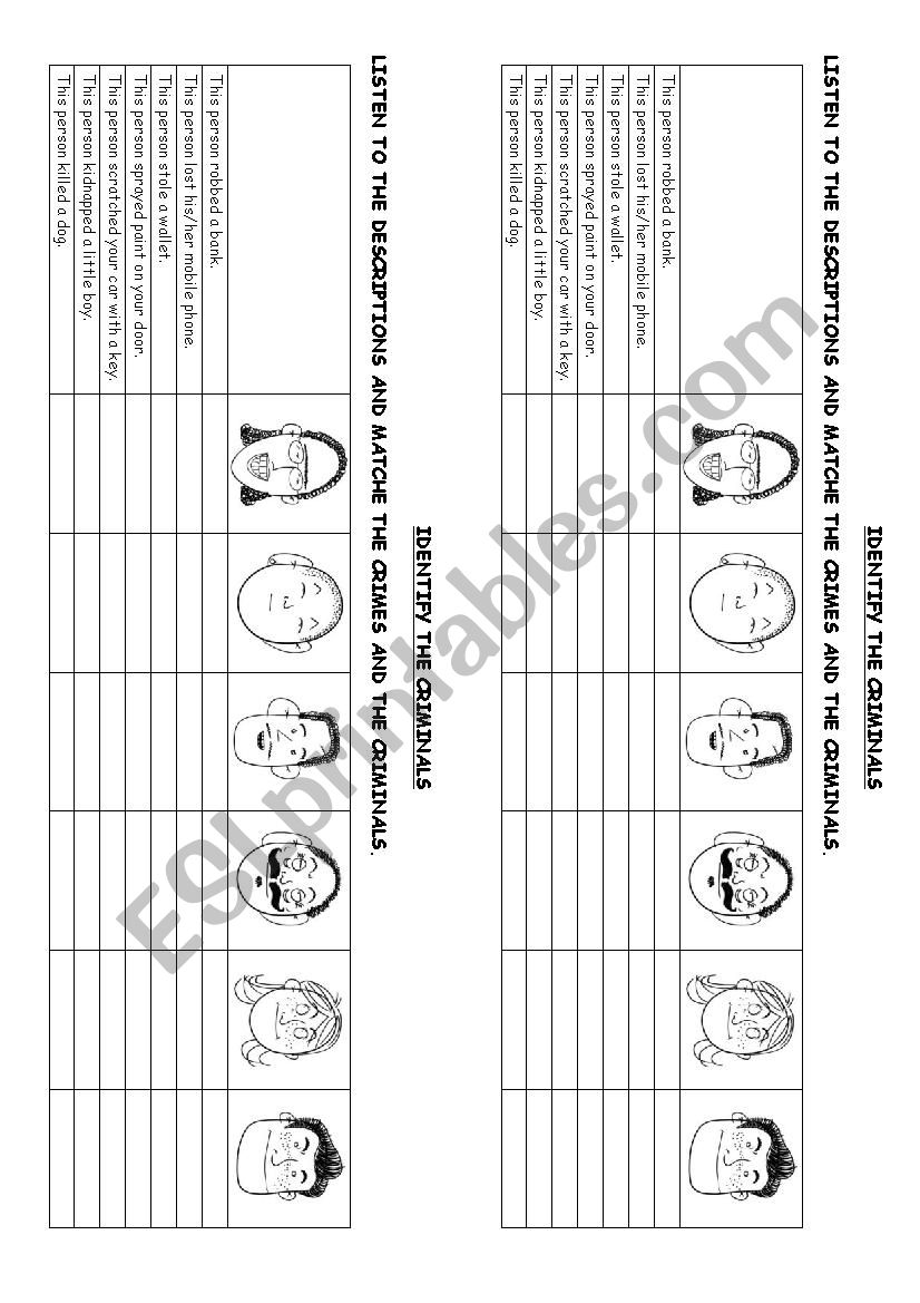 identify the delinquants worksheet