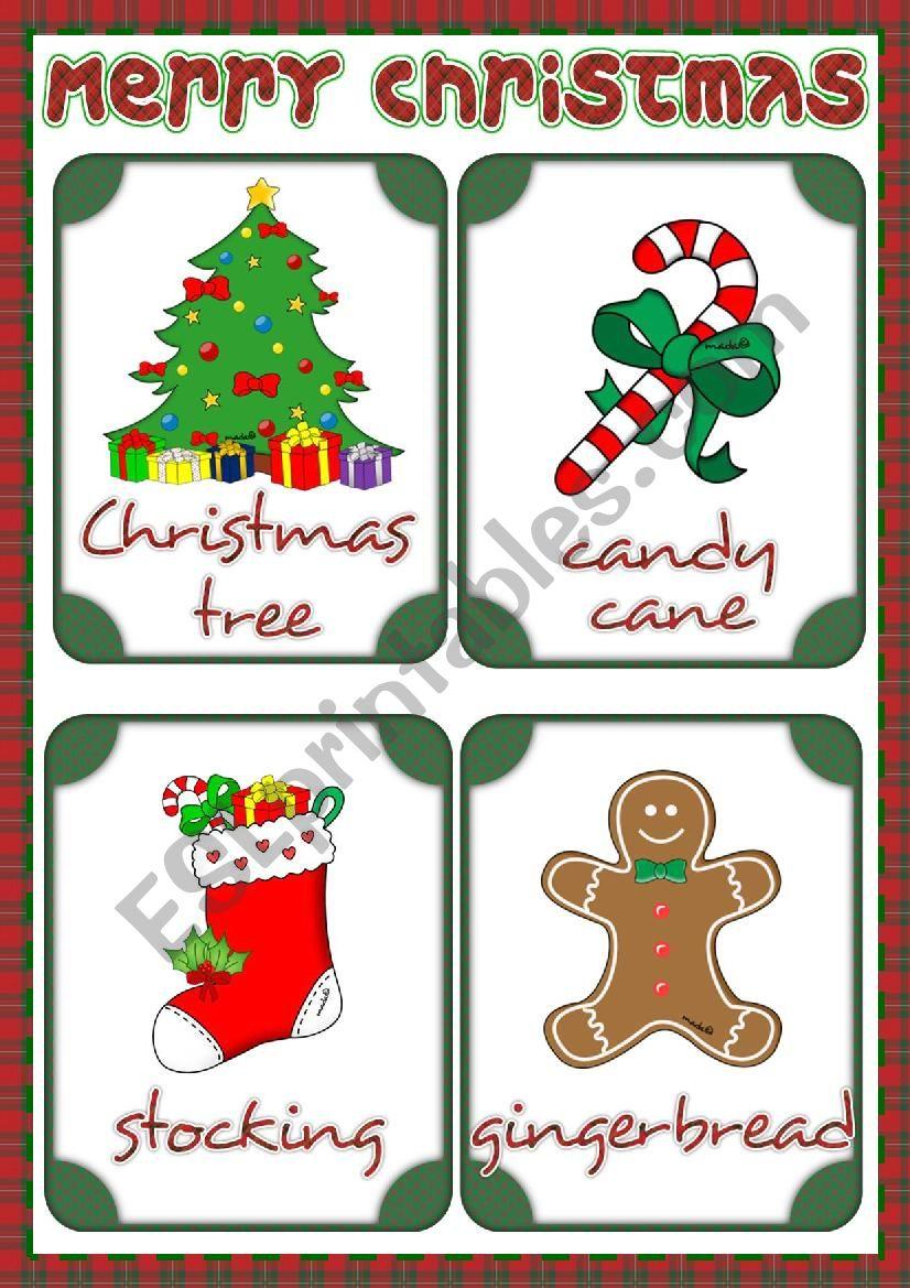 Christmas - flashcards 1 worksheet