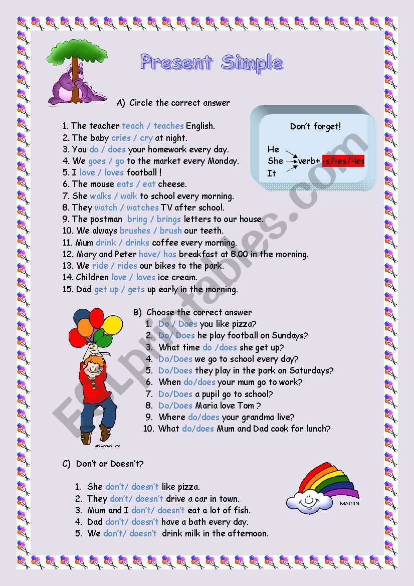 Present Simple for young learners