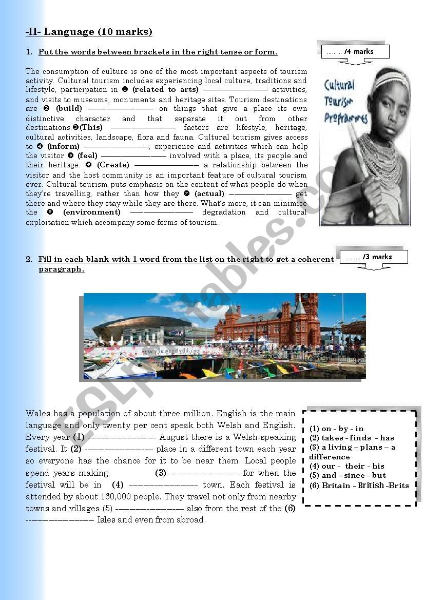 Full-term Test 1 Part 2 4th Form Arts Language+Writing