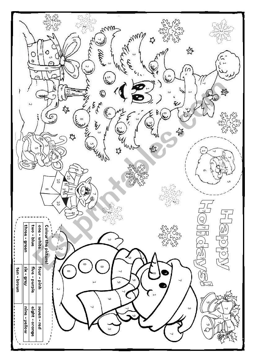Christmas colouring! worksheet
