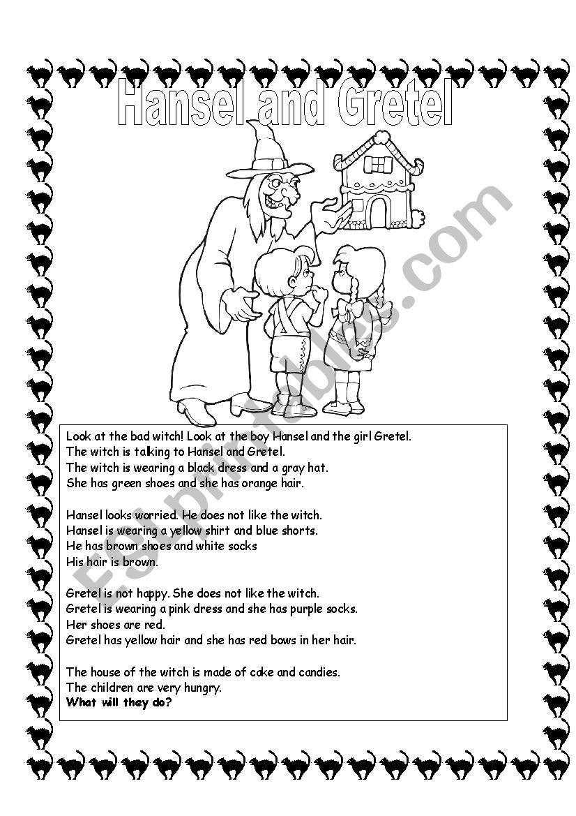Hansel And Gretel Esl Worksheet By Ronit85