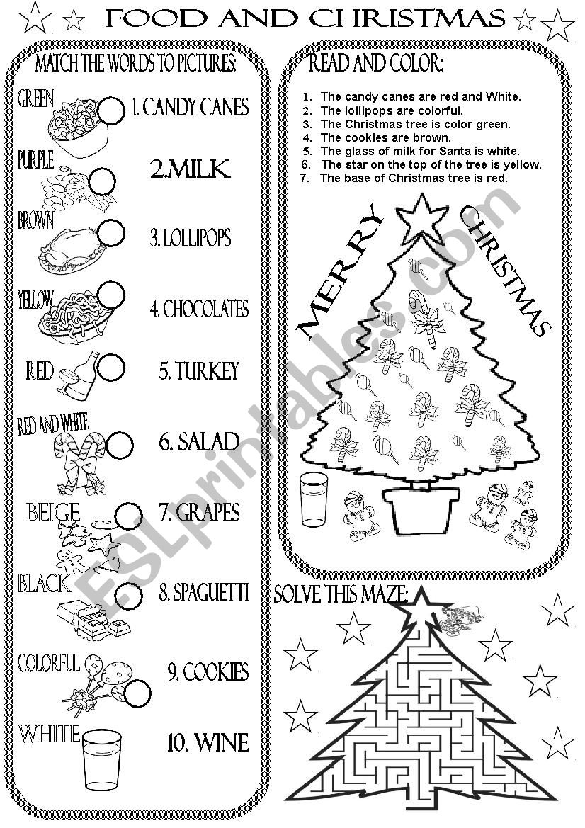 - FOOD AND CHRISTMAS - ESL Worksheet By Beauty And The Best