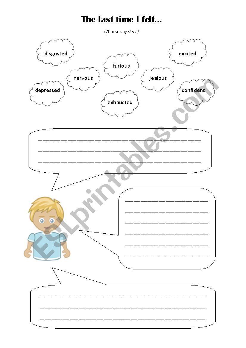 Emotions worksheet