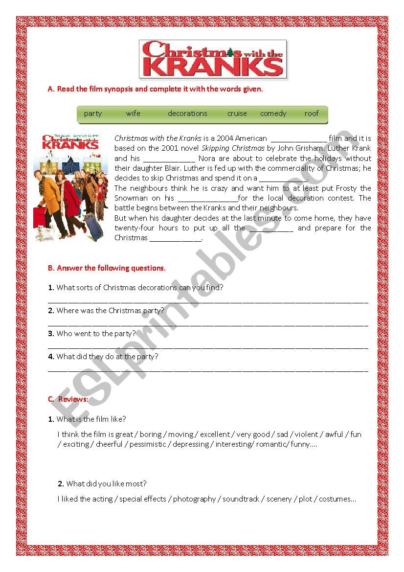 Famous Christmas With The Kranks Online Illustration - Christmas ...