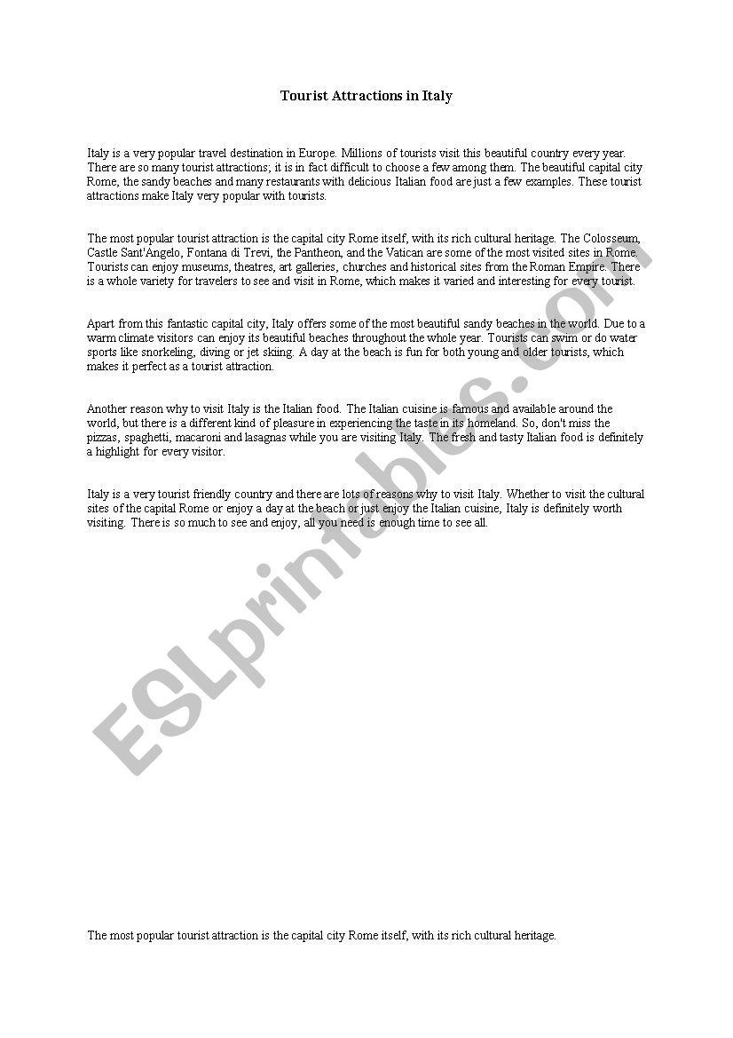 Italy essay