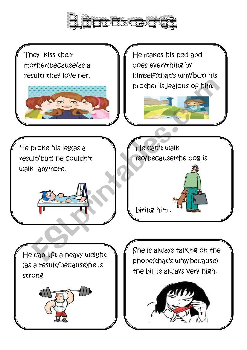 speaking cards (linkers/conjunctions) (part one)