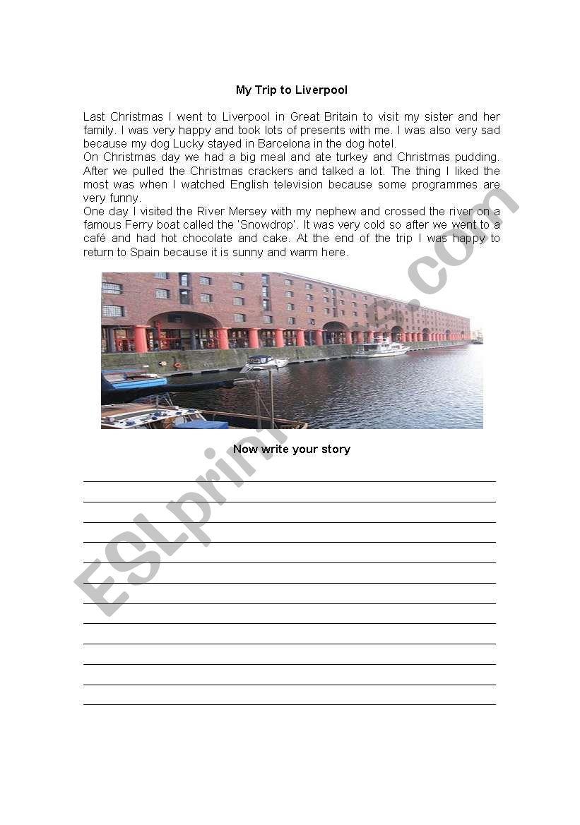 My trip to Liverpool worksheet