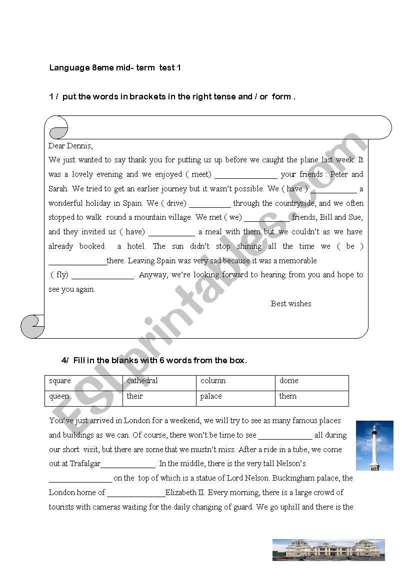 language 8th grade worksheet