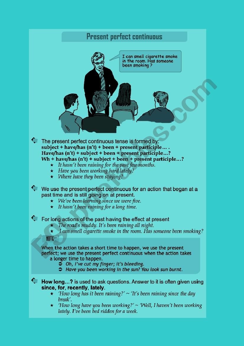 Present Perfect Continuous. worksheet