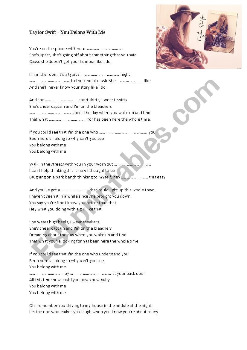 TYLOR SWIFT - You belong with me
