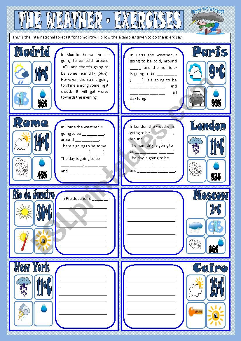 The weather - exercises worksheet