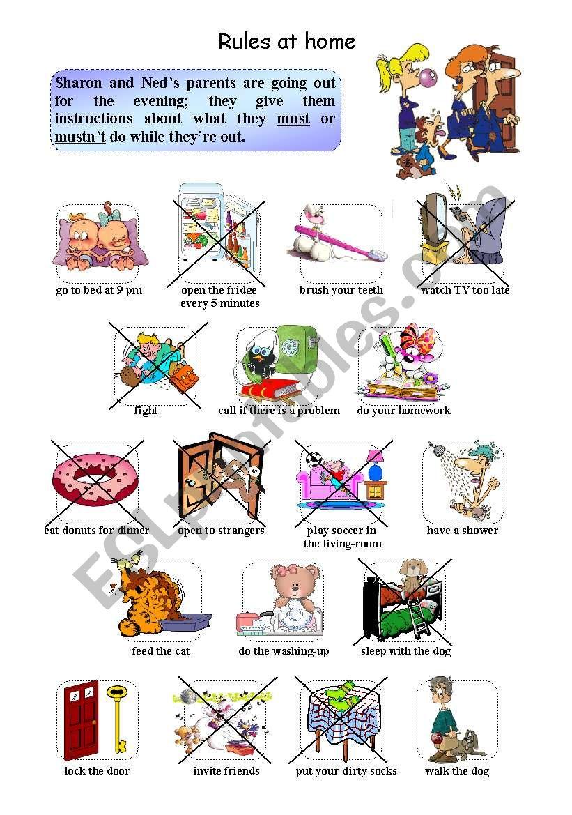 Rules At Home Worksheet - rules at home worksheet kindergarten due ...