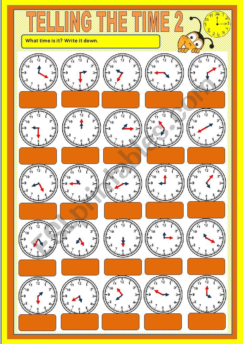 Telling the time - exercises 2