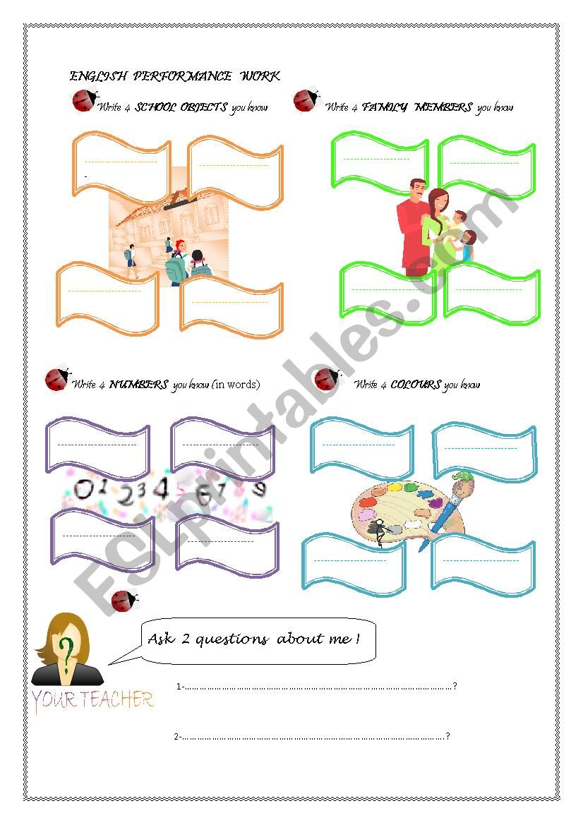 performance work worksheet