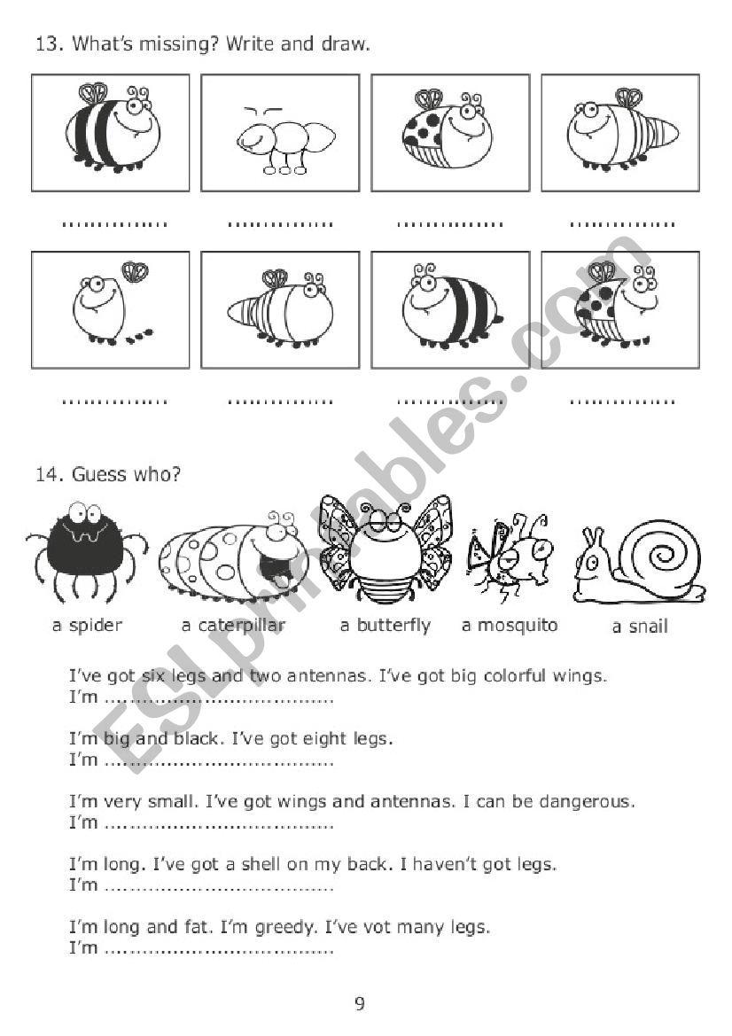 The Very Greedy Bee 3/3 worksheet