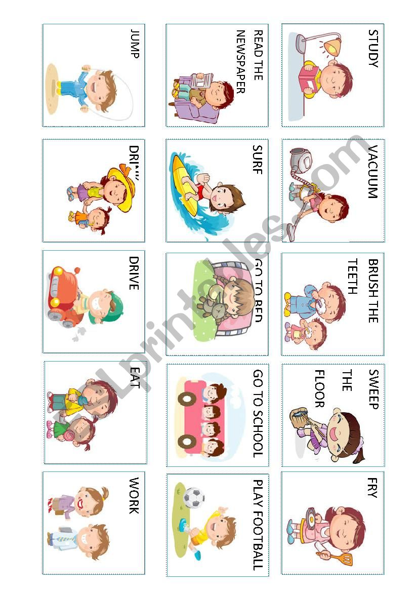 Action verbs (4 out 5) worksheet