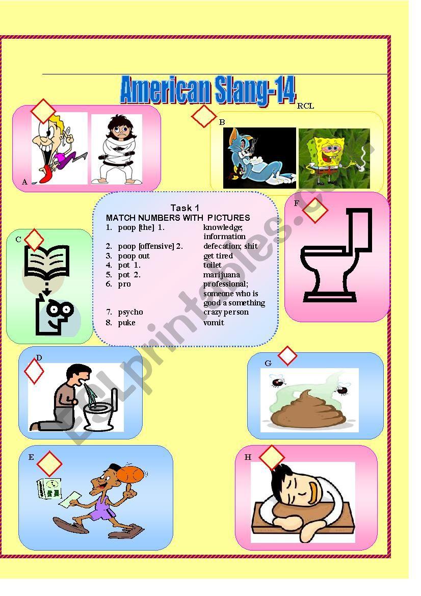 American Slang-14 worksheet