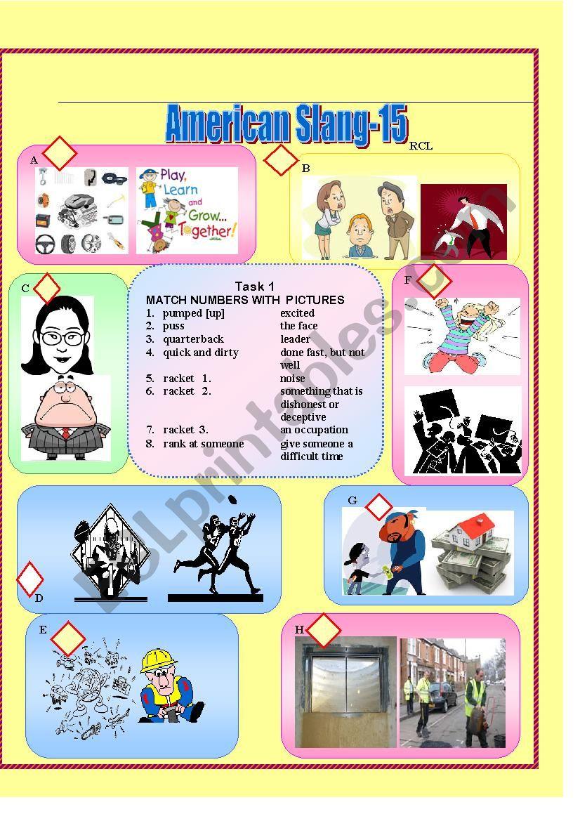 American Slang-15 worksheet