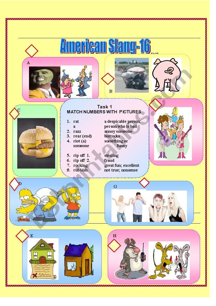 American Slang-16 worksheet