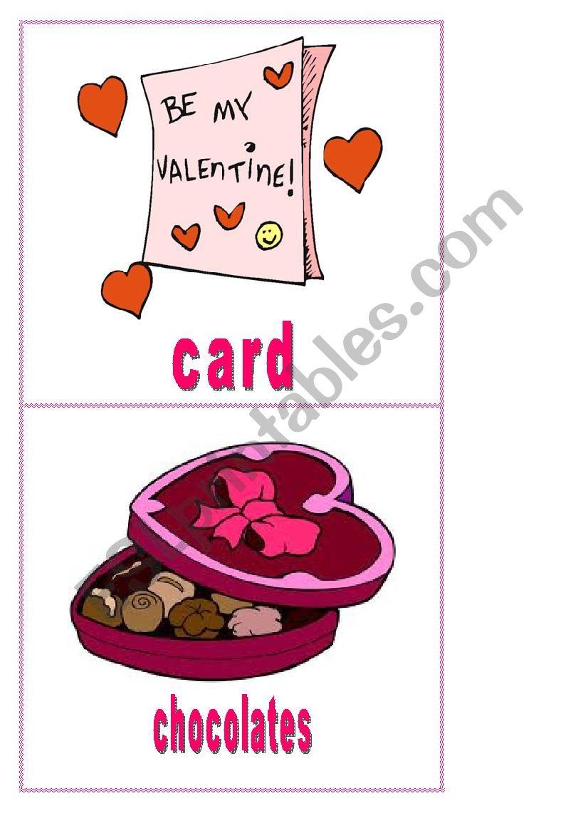 valentine´s day  flashcards  esl worksheetsylwineczka