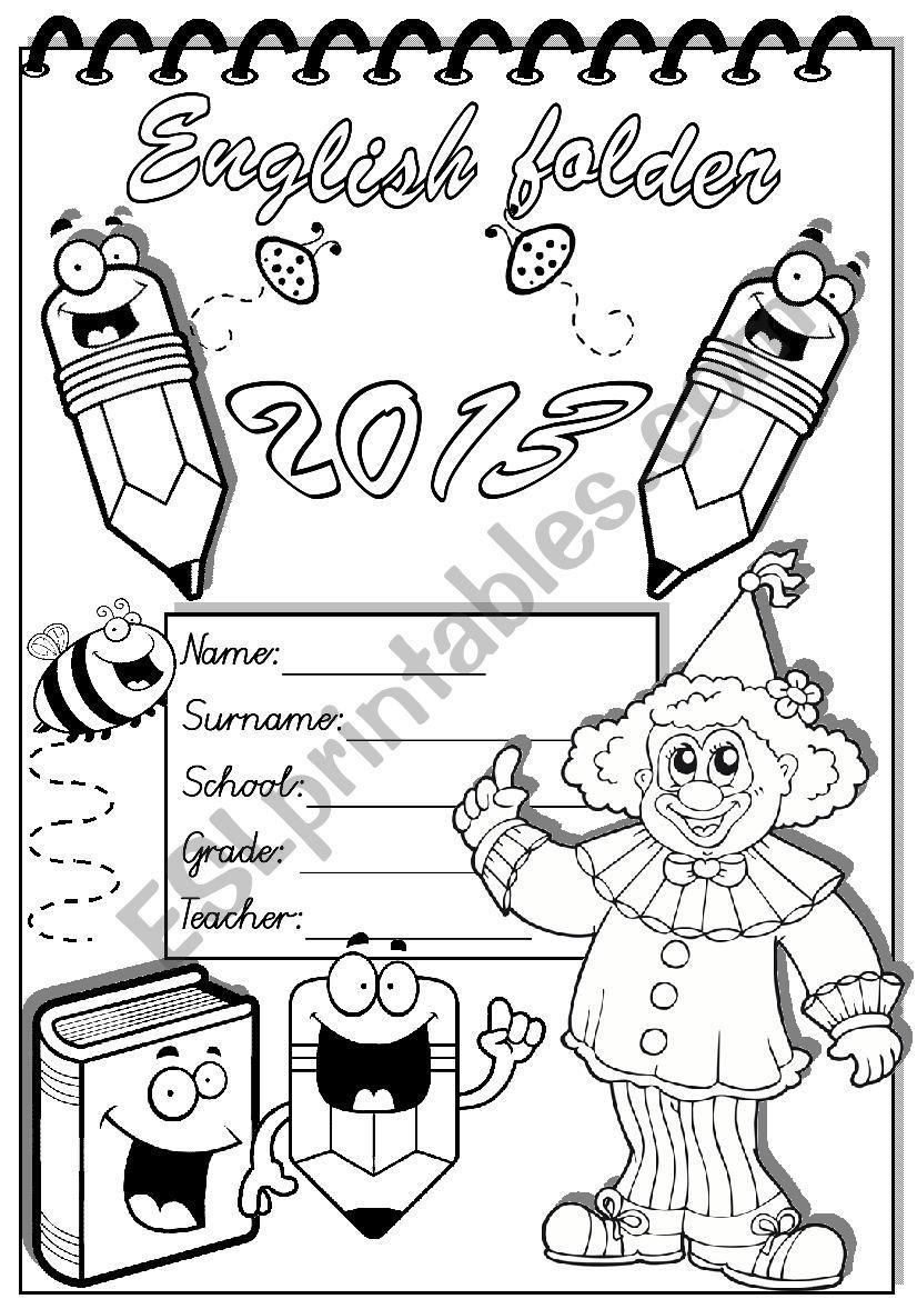 english folder worksheet