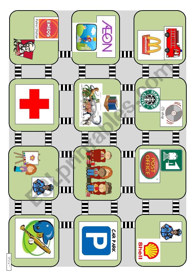 DIRECTIONS - Conversations and maps - Beginner and young learners (streets) 2