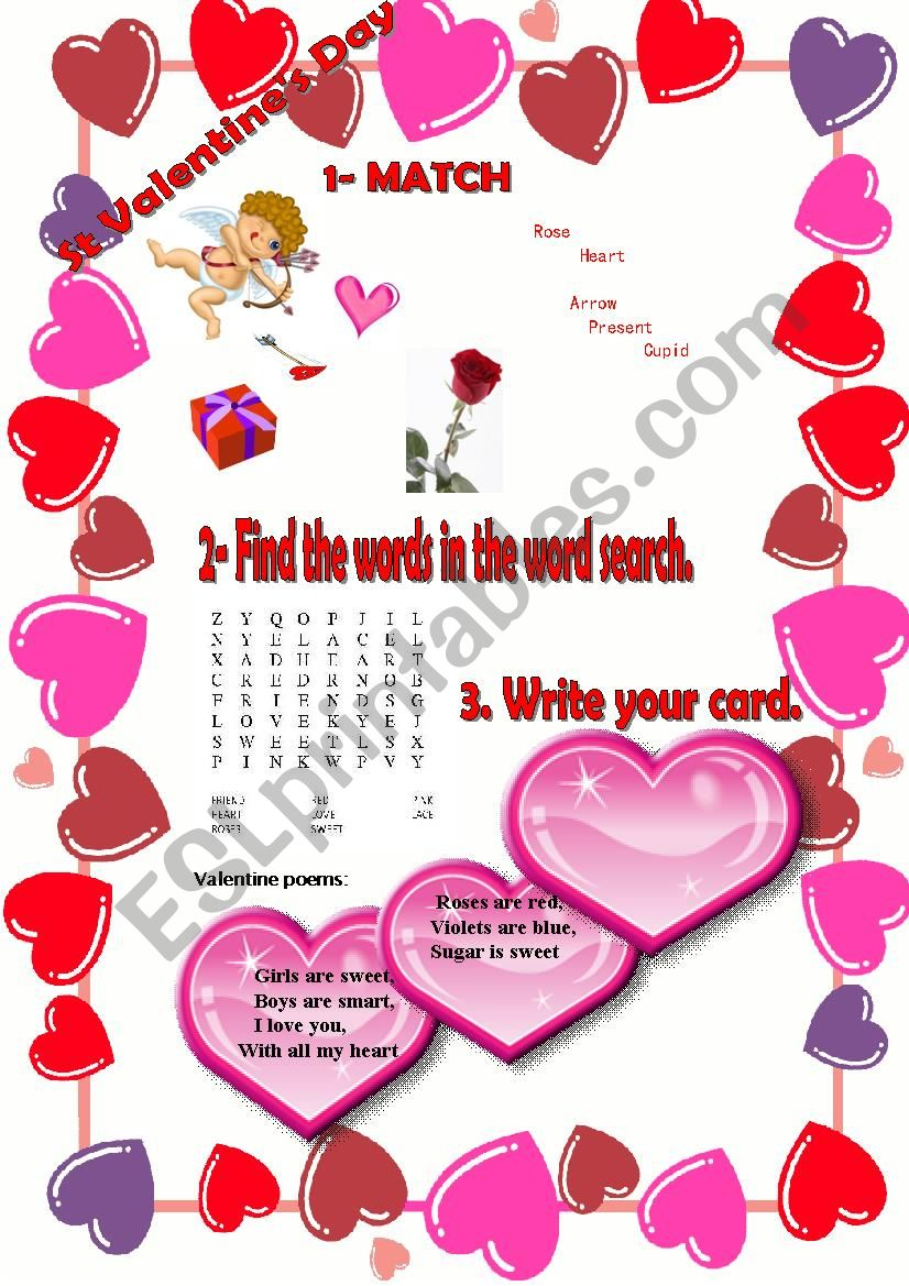 St. Valentine´s Day worksheet