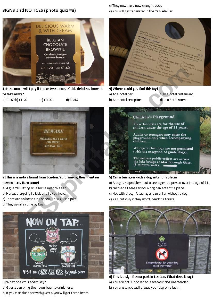 SIGNS AND NOTICES #8 (10 photos on 2 pages)