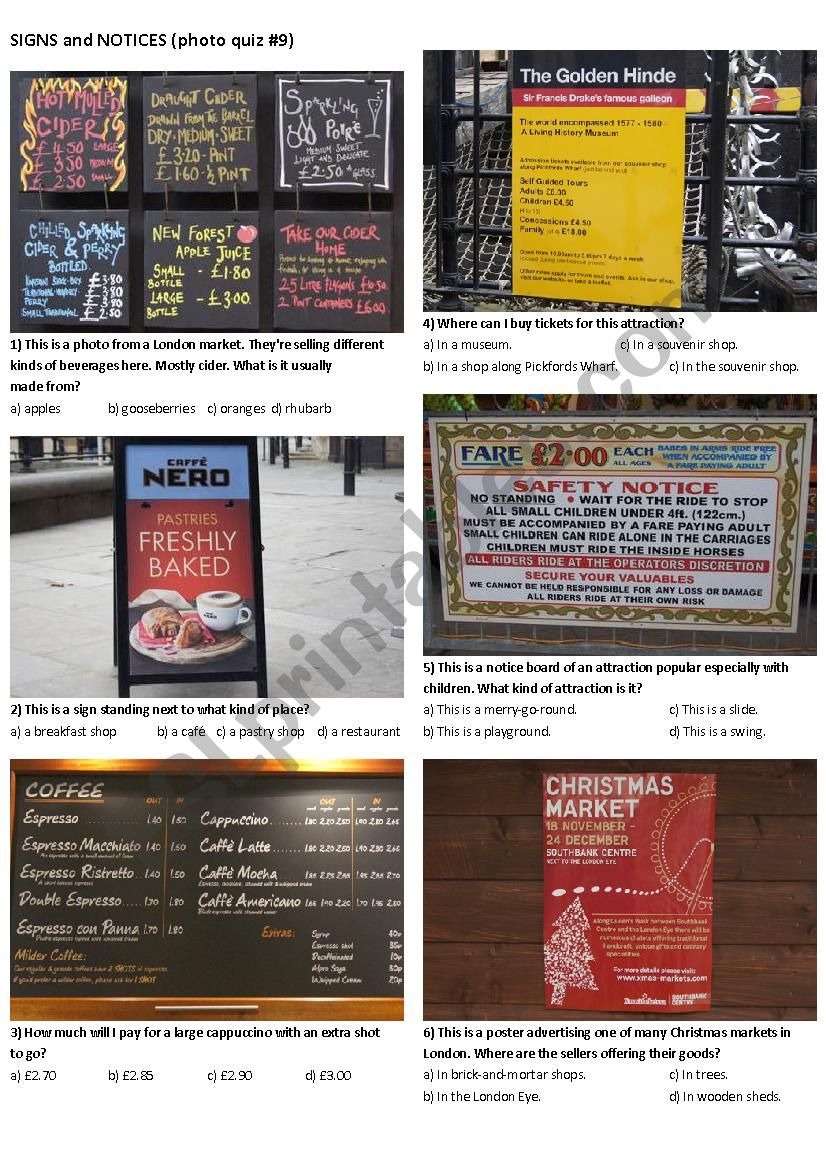 SIGNS AND NOTICES #9 (10 photos on 2 pages)