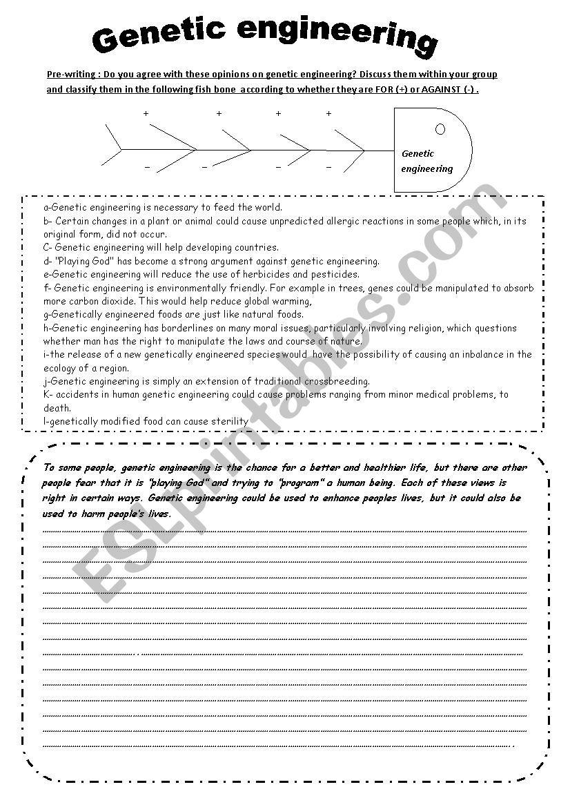 Genetic Engineering Esl Worksheet By Chaymouma