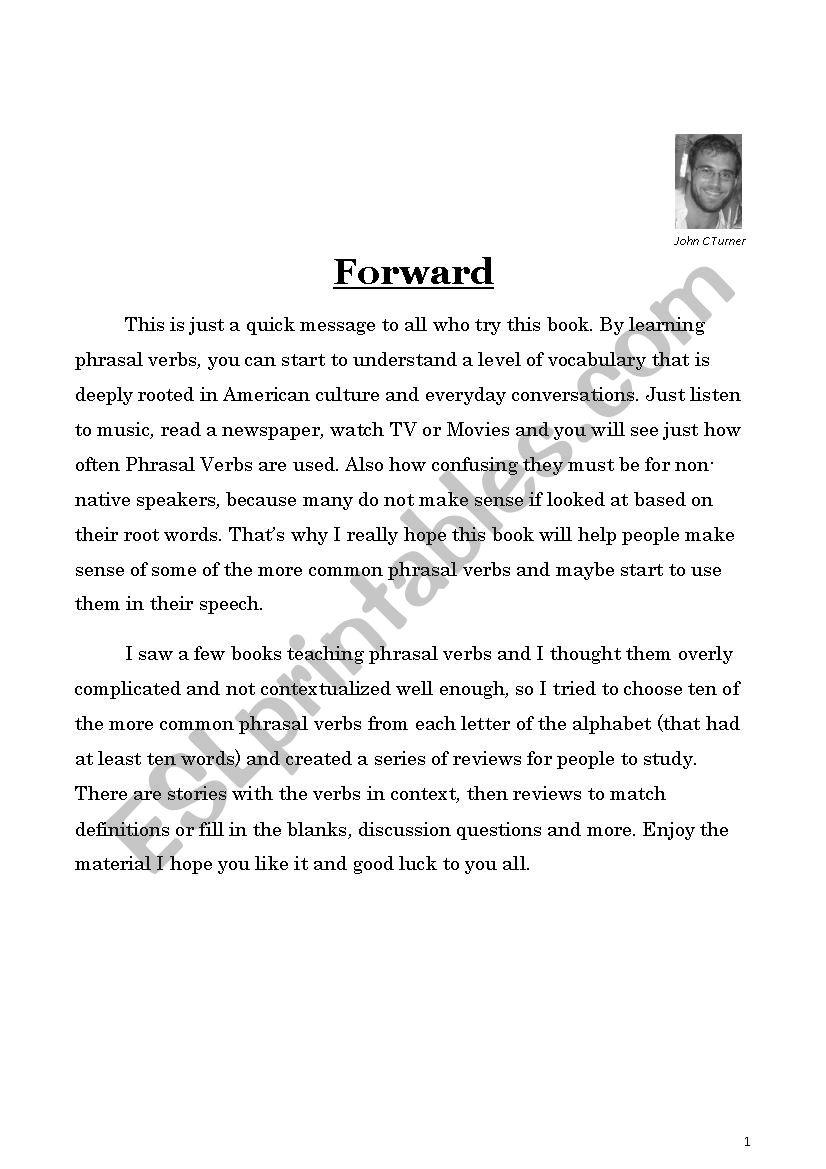Phrasal Verb book sample worksheet