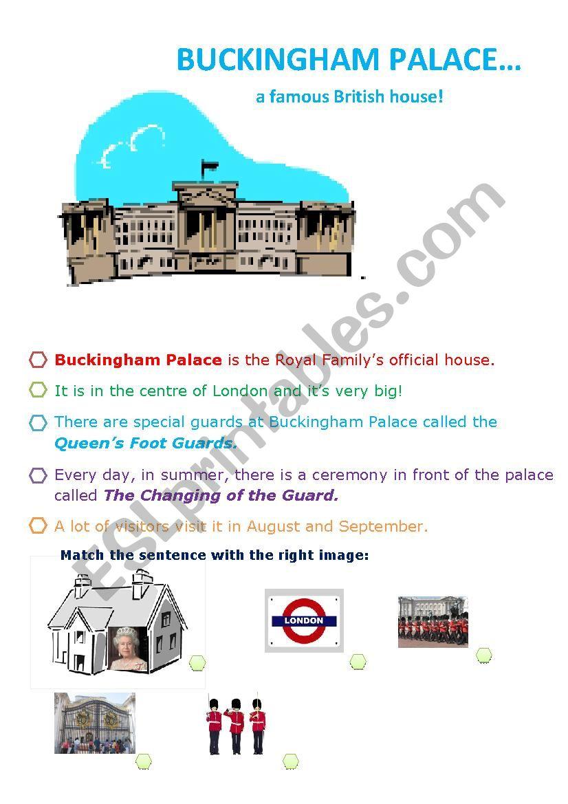 BUCKINGHAM PALACE worksheet