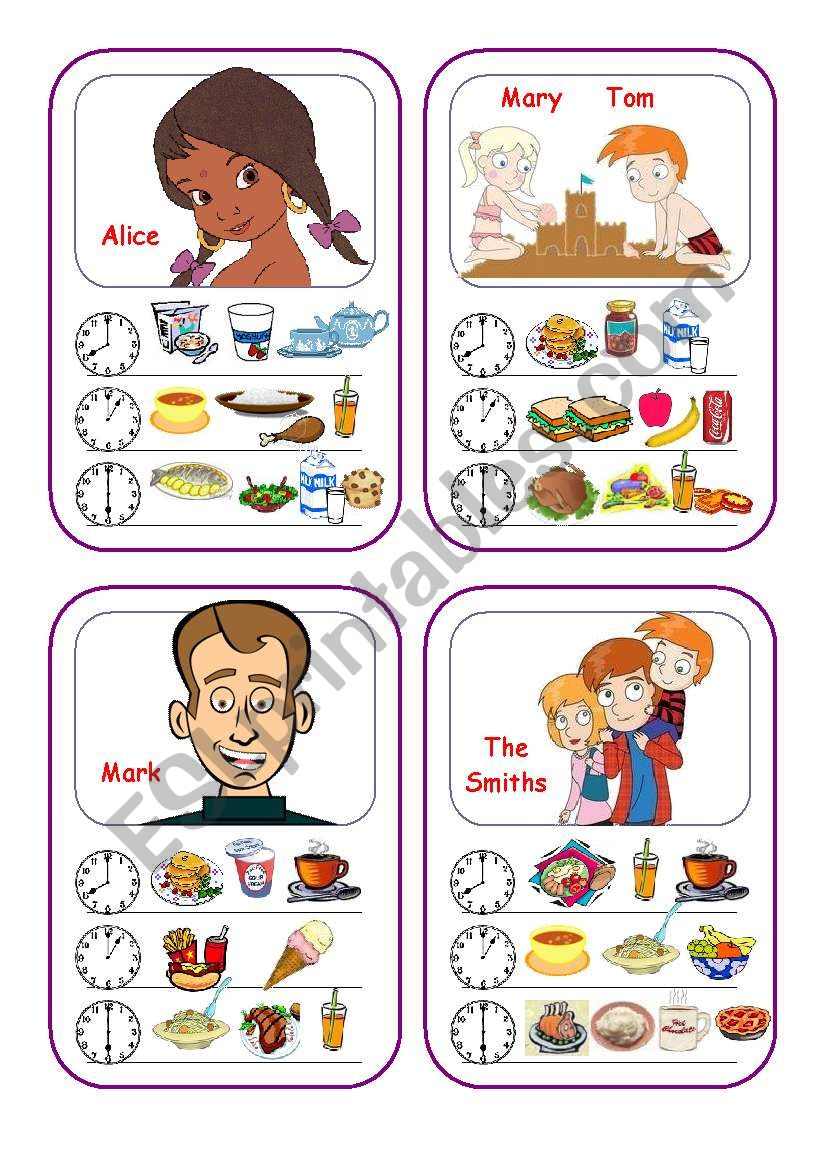 Food Cards (Part 1 out of 5) worksheet