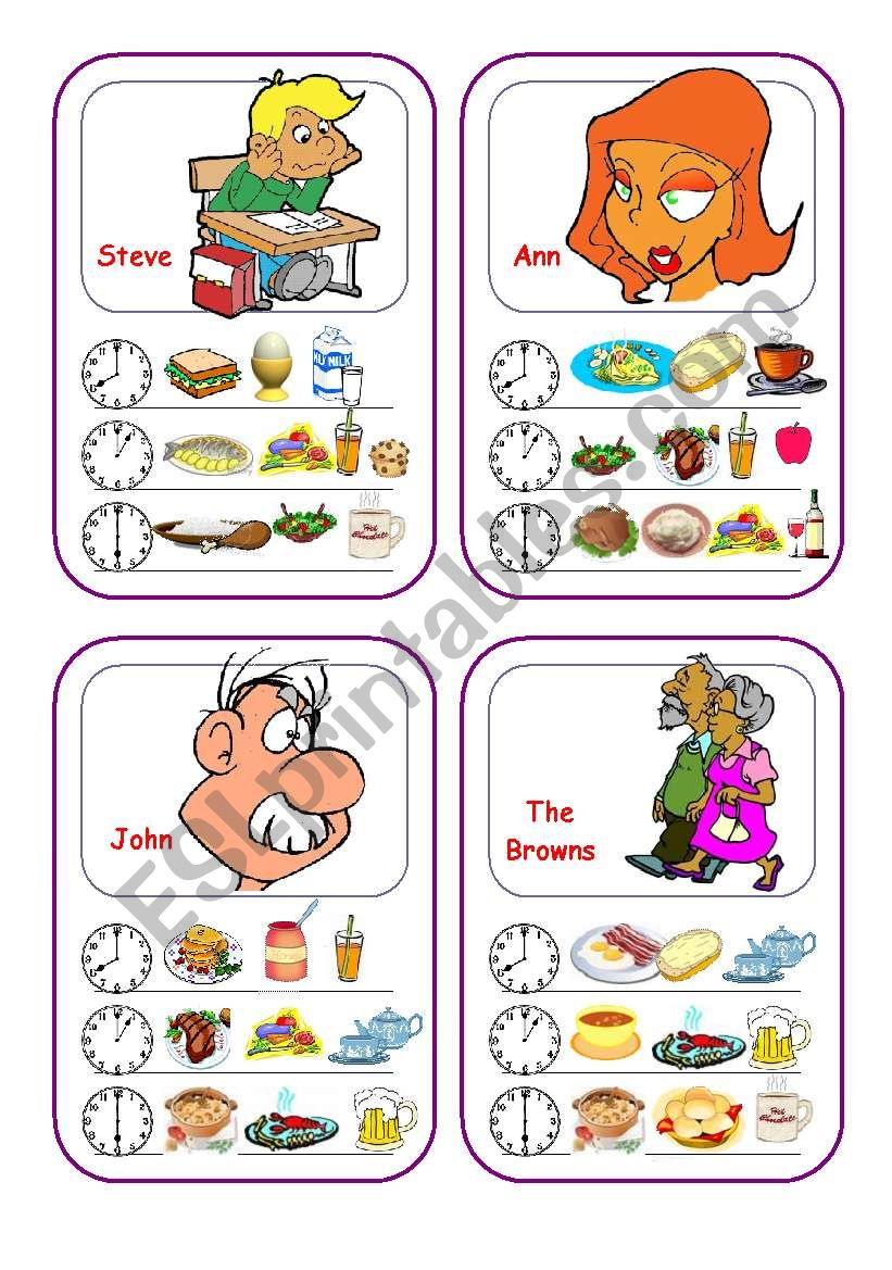 Food Cards (Part 2 out of 5) worksheet