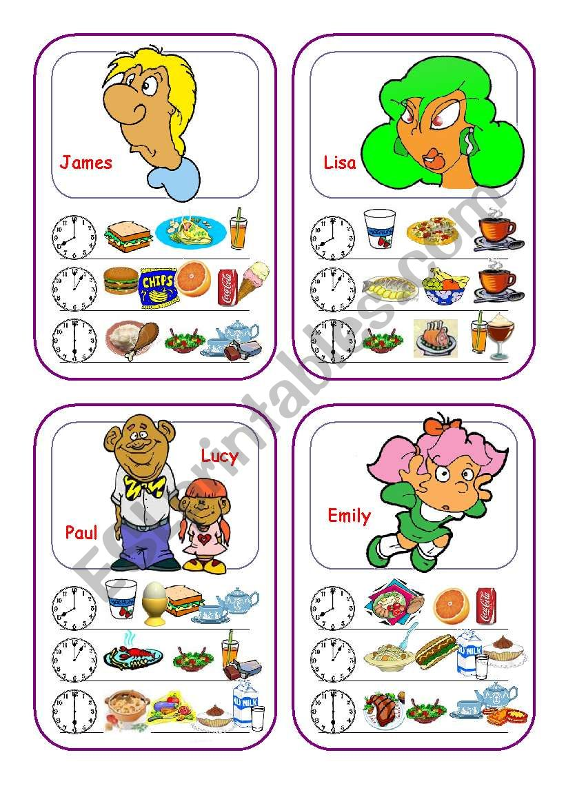Food Cards (Part 4 out of 5) worksheet