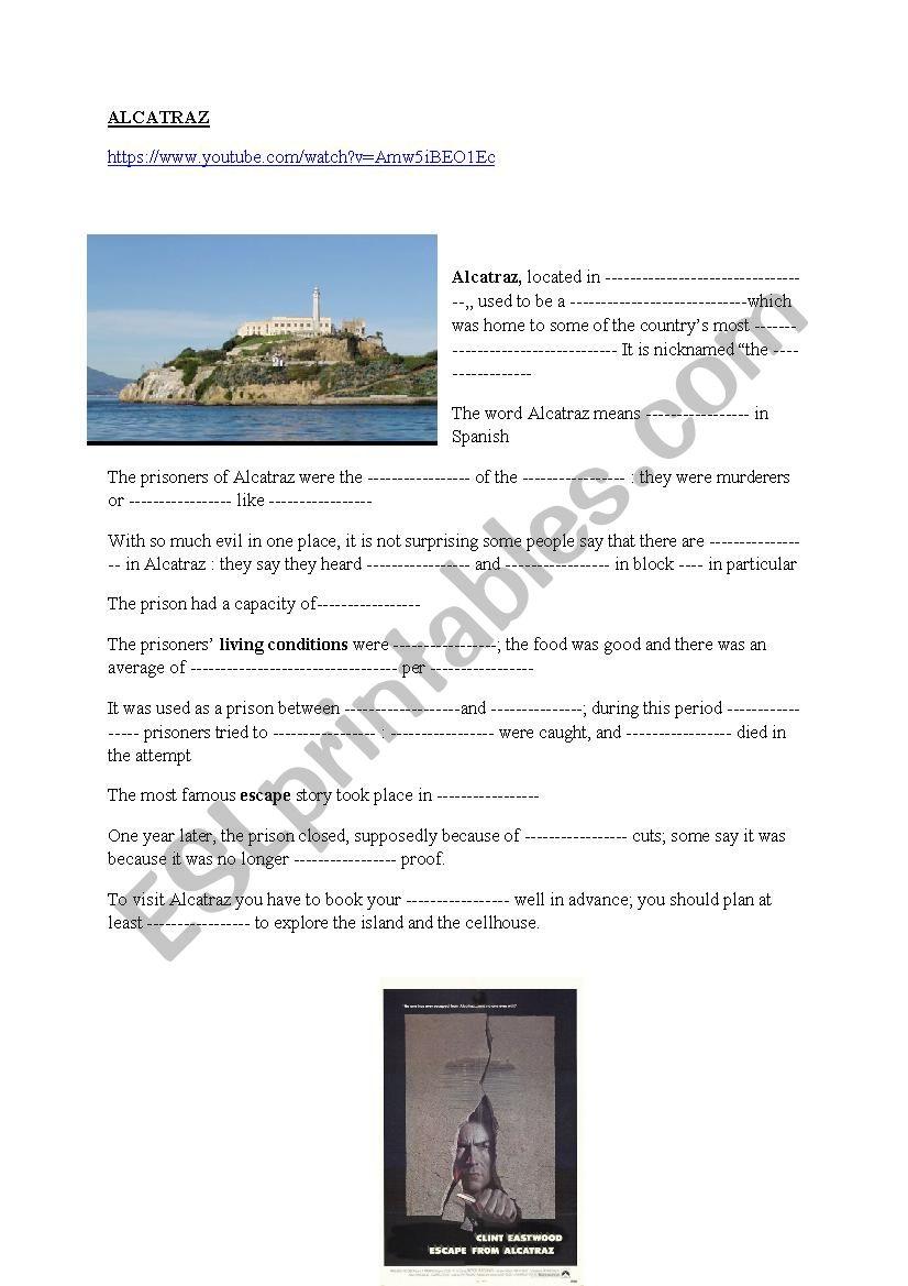 Alcatraz prison video worksheet