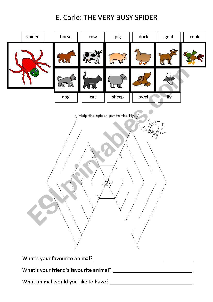 the very busy spider pdf