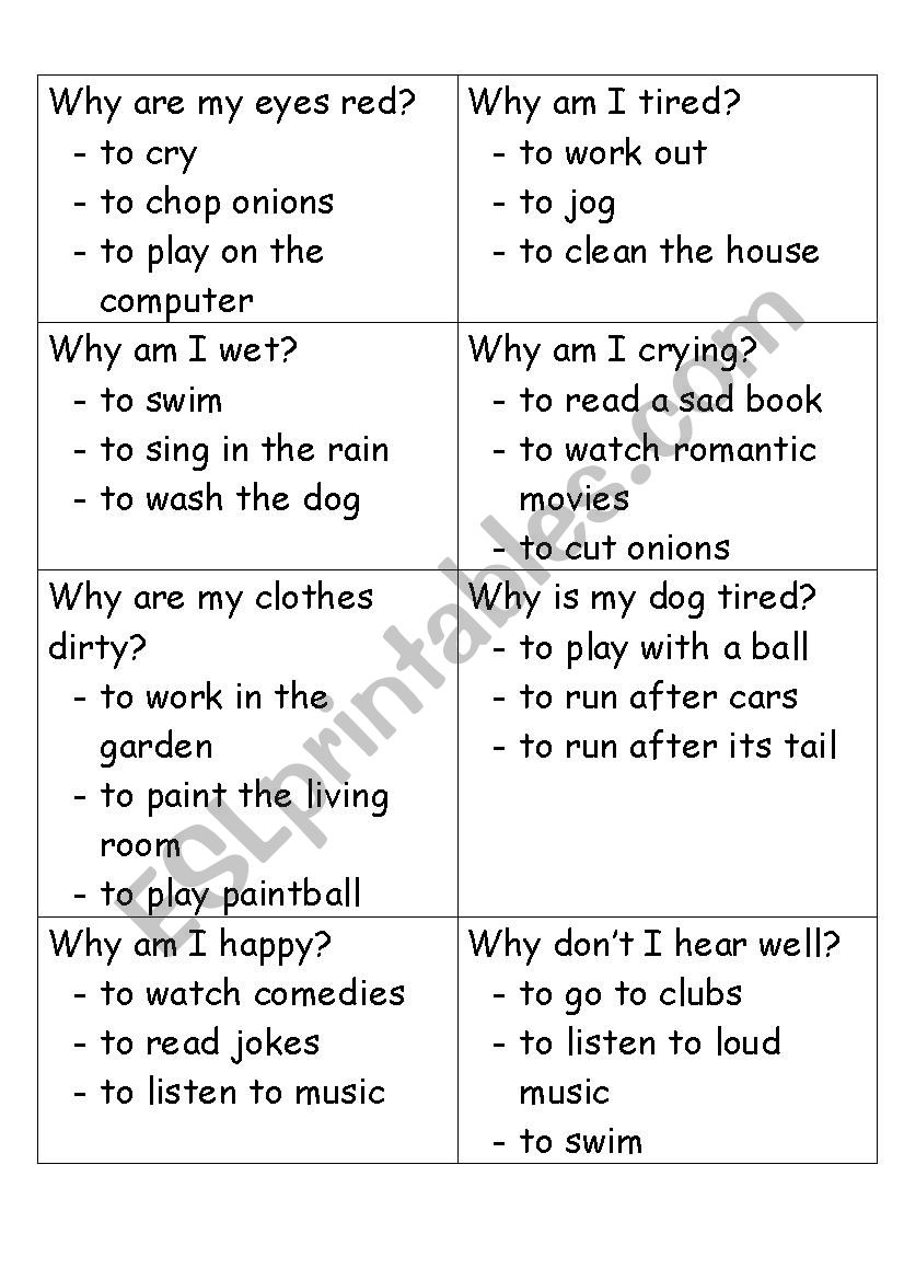 Guessing Game - Present Perfect Continuous