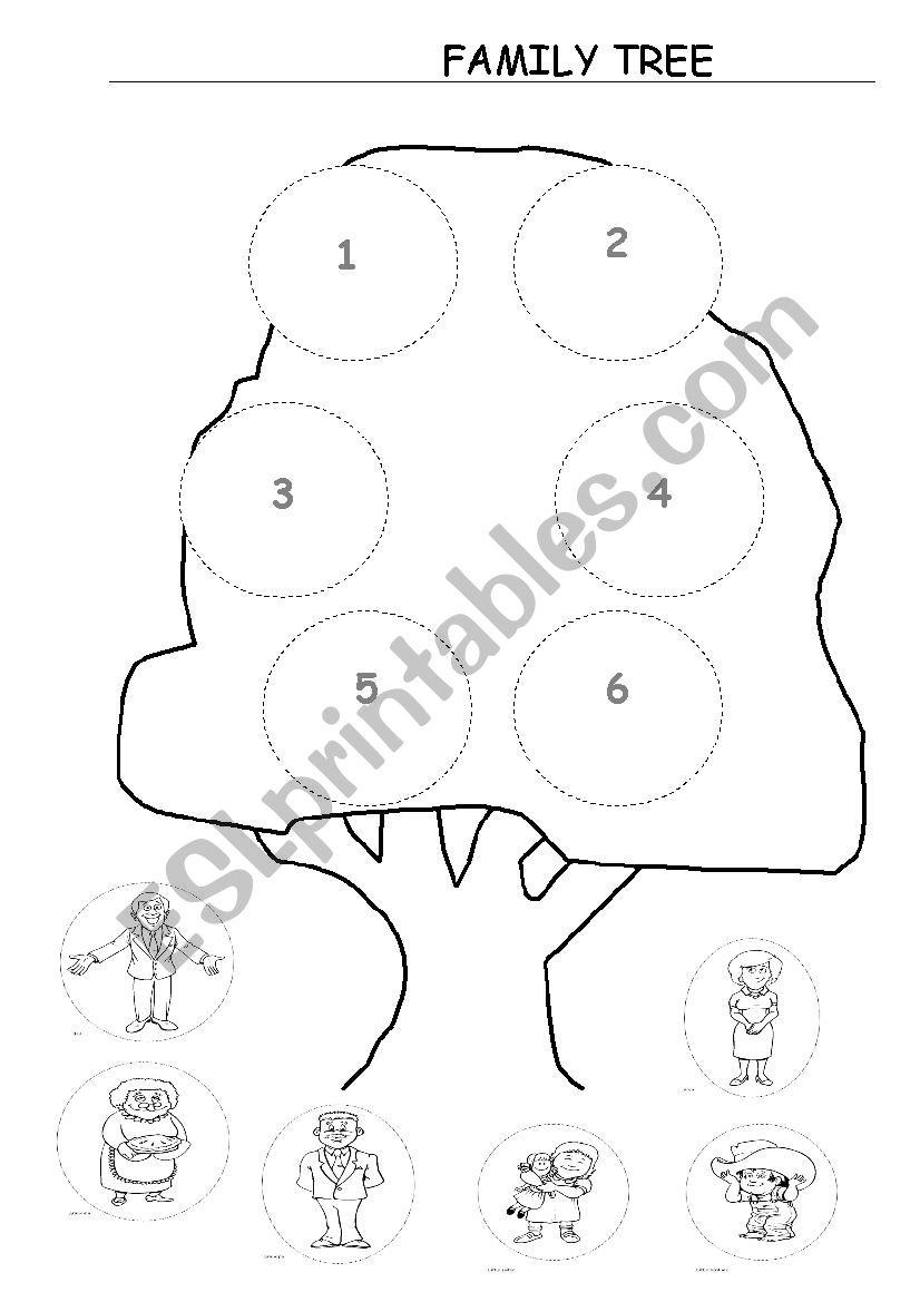 Family Tree for Kindergarten worksheet