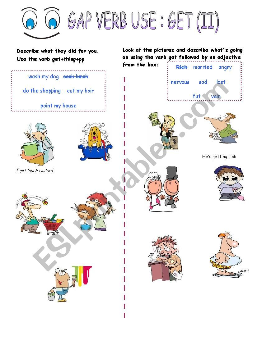 Uses of  all purpose verb Get (II)